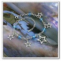Brazalete de cristal, la cadena de moda pulsera, brazalete de cobre chapado en platino con Link, y pulsera de cadena, joyería de moda pulsera (China (continental))