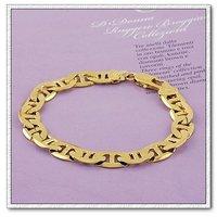 Moda joyas pulsera, brazalete de cobre con oro 18k, Link y pulsera de cadena, envío gratis (China (continental))