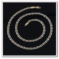 Collar de cadena, collar de dos colores, con el collar de cobre chapado en oro de 18 quilates, joyas Collar, Gastos de envío gratis (China (continental))