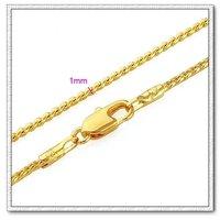 Snake collar de cadena, con el collar de cobre chapado en oro de 18 quilates, collar de imitación, Gastos de envío gratis (China (continental))
