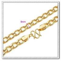 Moda collar de cadena, con el collar de cobre chapado en oro de 18k, joyería de imitación collar, Gastos de envío gratis (China (continental))