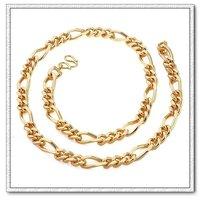 Moda collar de cadena, un collar de los hombres, con el collar de cobre chapado en oro de 18k, joyería de imitación collar, Gastos de envío gratis (China (continental))