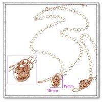 Conjunto de joyas de moda, de cobre con oro de 18 quilates chapado en valores, bisutería, collares y aretes (twinset) envío gratuito (China (continental))