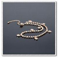 Tobillera simple, de cobre con baño de oro de 18 quilates para el tobillo, la joyería de moda tobillera, Gastos de envío gratis (China (continental))