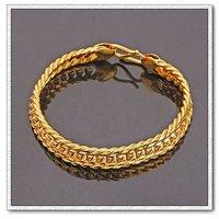 Moda joyas pulsera, pulsera del encanto, de cobre con oro 18k pulsera, cadena y pulsera de Enlace, envío gratis (China (continental))