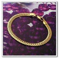 Moda joyas pulsera, brazalete de serpiente forma, de cobre con oro 18k pulsera, cadena y pulsera de Enlace, envío gratis (China (continental))