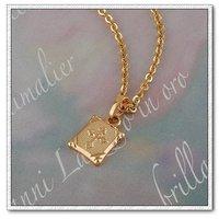 Collar libre, colgante de la Cruz, de cobre con oro 18k, colgante, collar de moda, Gastos de envío gratis (China (continental))