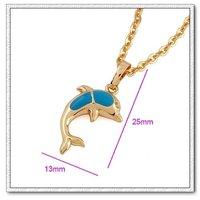 Collar libre, colgantes Dolphin, de cobre con oro 18k, colgante, collar de moda, Gastos de envío gratis (China (continental))