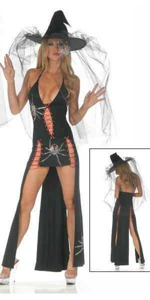 6pcs lots free shipping sexy lingerie Black Widow Gown costume casement window top hung window HALLOWEEN 6pcs lots free shipping sexy