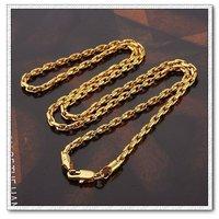 Moda collar de cadena, con el collar de cobre chapado en oro de 18 quilates, un collar de joyas, Gastos de envío gratis (China (continental))