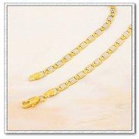 Moda collar, collar de colores doble, con collar de cobre chapado en oro de 18 quilates, un collar de joyas, Gastos de envío gratis (China (continental))