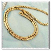 Moda collar, collar de serpiente, de cobre con collar de oro 18k, collares joyas, Collar largo, Gastos de envío gratis (China (continental))