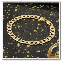 Corea del brazalete de estilo, joyería de moda de pulsera, de cobre con oro 18k pulsera, cadena y pulsera de Enlace, envío gratis (China (continental))