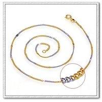 Collar de doble color, collar de la cadena de moda, con el collar de cobre chapado en oro de 18 quilates, collar de joyas, Gastos de envío gratis (China (continental))