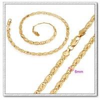 Moda collar de cadena, de cobre con collar de oro 18k, collar de joyas, Gastos de envío gratis (China (continental))