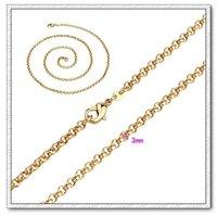 O collar de la forma, el collar de la cadena de moda, con el collar de cobre chapado en oro de 18 quilates, collar de joyas, Gastos de envío gratis (China (continental))