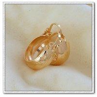 Pendiente de la moda, de cobre con baño de oro de 18 quilates pendientes, aretes, Gastos de envío gratis (China (continental))
