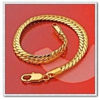 Moda joyas pulsera, brazalete de cobre con baño de oro 18k, Gastos de envío gratis (China (continental))