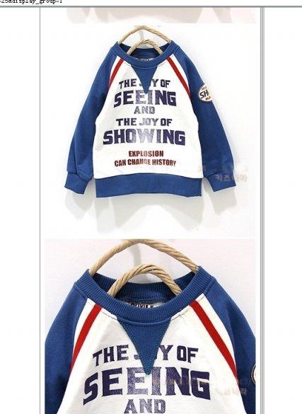 Wholesale b2w2 Baby Shirts Tops Costumes Boys Blouse Sweater Shirts T-shirts baby long sleeve t-shirt LT-313