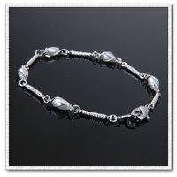 Cadena de moda pulsera, brazalete de cobre con cristal platinado, joyas pulsera de moda.  Envío gratis (China (continental))