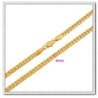 Moda collar de cobre con collar de oro 18k, collar de joyas, Gastos de envío gratis (China (continental))