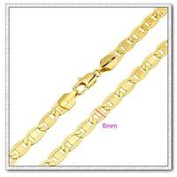 Moda collar de cadena, con el collar de cobre chapado en oro de 18 quilates, collar de imitación, Gastos de envío gratis (China (continental))