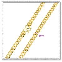 Moda collar de cadena, con el collar de cobre chapado en oro de 18 quilates, collar de bisutería, Gastos de envío gratis (China (continental))