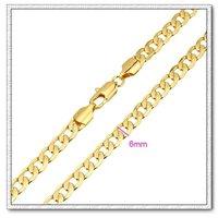 Moda collar de cadena, un collar largo, de cobre con collar de oro 18k, collar de la joyería de moda, Gastos de envío gratis (China (continental))