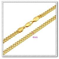 Moda collar de cadena, de cobre con collar de oro 18k, collar de la joyería de moda, Gastos de envío gratis (China (continental))