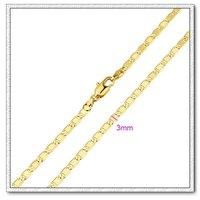 Moda collar de cadena, de cobre con collar de oro 18k, collar de bisutería, Gastos de envío gratis (China (continental))