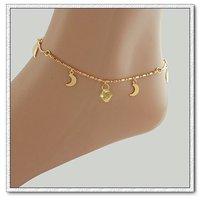 De cobre con tobillera de cristal de 18 quilates chapado en oro, joyas de moda tobillera, Gastos de envío gratis (China (continental))