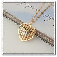 Collar libre, moda colgante collar de cobre con diamantes de imitación de oro 18k, Gastos de envío gratis (China (continental))