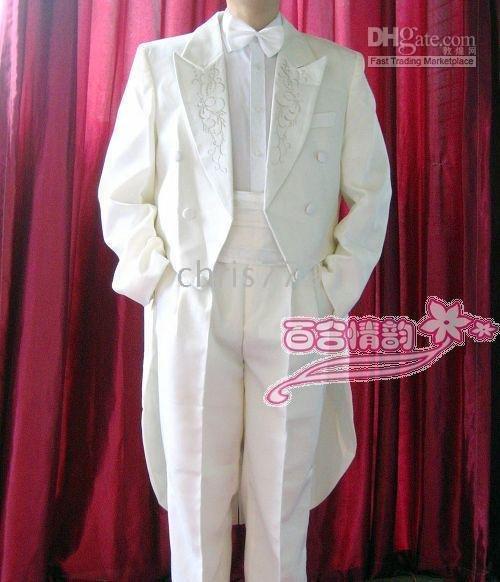 Mens White Wedding Suits. Wholesale Bridegroom white