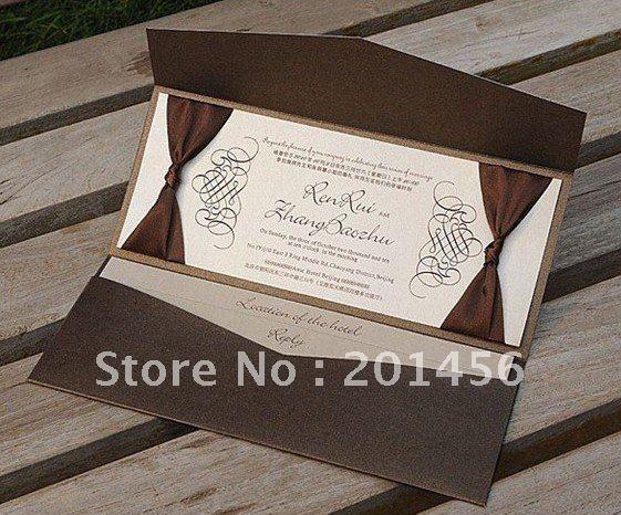 Wedding invitation NK132 include RSVP card coffee color wedding card