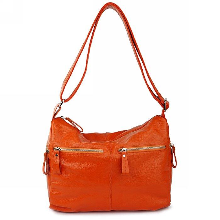 Orange Leather Shoulder Bag 31