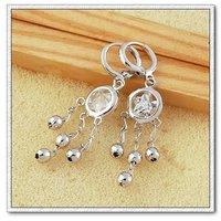 Pendientes colgantes, pendientes de platino con cobre chapado en circón, joyería de moda pendientes, Gastos de envío gratis (China (continental))