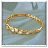 Pulsera de moda, con pulseras de cobre chapado en oro de 18 quilates, joyas zirconia pulsera, envío gratis (China (continental))