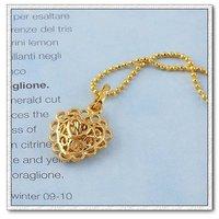 Collar libre, colgantes en forma de corazón, con colgante de cobre chapado en oro de 18 quilates, colgante, collar de moda, Gastos de envío gratis (China (continental))