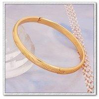 Moda pulsera brazalete, brazalete de cobre con oro 18k, brazalete de joyería de moda, Gastos de envío gratis (China (continental))