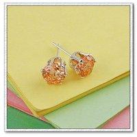 Pendientes, aretes de cobre con platinado, Cubic zirconio, joyería de moda pendientes, Gastos de envío gratis (China (continental))