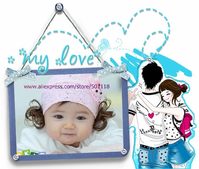 Girls With Headbands. Lace Baby Headband - Baby girl