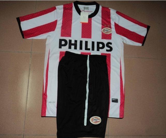 Free sample ! 2010 new season best quality original PSV Eindhoven home soccer jersey HM-030