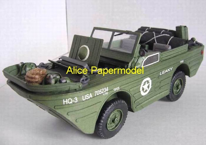 [Alice papermodel]Fiat 126p sedan jeep truck train vehicles car models