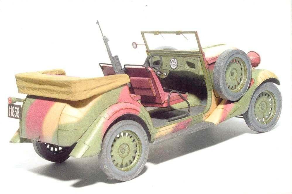 Alice papermodel Fiat 508 Lazik jeep model car model jpg