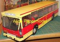 Алиса papermodel] длиной 35 см 1:32 синий автобус модели