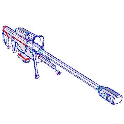 assault rifle gun. sniper rifle gun model in