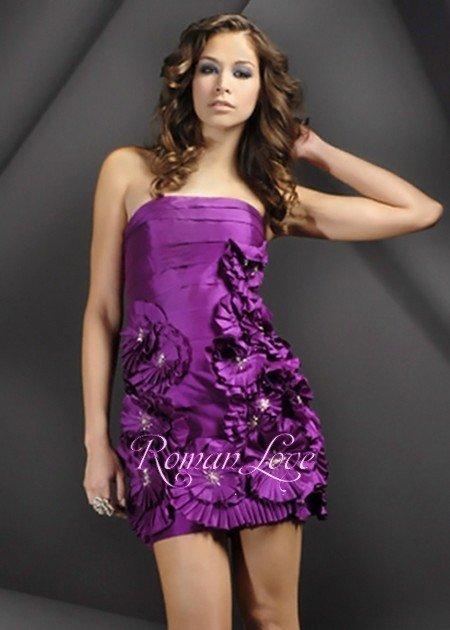 purple cocktail dresses