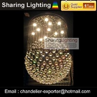 Люстра Sharing Lighting]Golden Foyer pendant lamp, crystal chandelier lighting