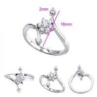 Кольцо Ladies' Platinum Plated & 2.2 CT Square-Shaped Brilliant Cut Grade AAA Cubic Zircon Diamond Wedding Ring