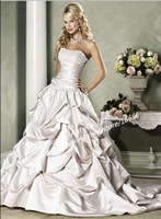 Supel Deal !! In stock!!2012 A Line Off the Shoulder Beading Satin BN455 Best Bridal Wedding Gown vintage